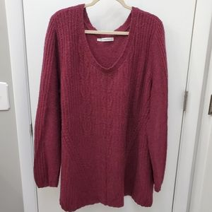 Maurices Wool Blend Scoop Neck Sweater